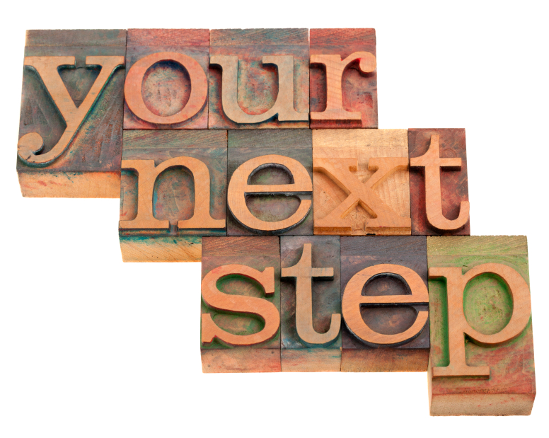 Your next step - contact me