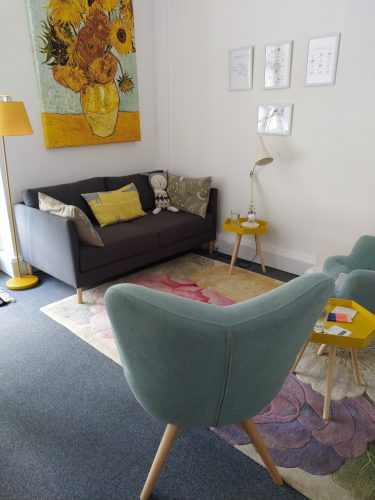 Therapy Room Emma Forbes CBT Rochester House, 48 Rochester Gardens, Hove BN3 3AW.